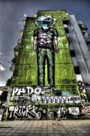 graffiti, mural, spray paint, building, wall, architecture, urban, high rise