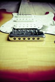 still, items, things, music, instrument, electric, guitar, fender, stratocaster, strings, bokeh, perspective