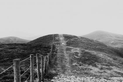 free photo of black and white  hills