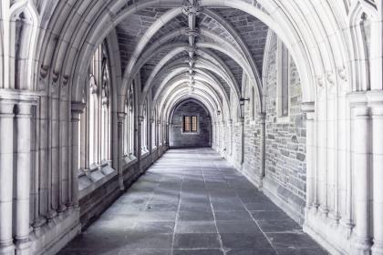 building, architecture, ceiling, hallway, arches, bricks, stones, walls