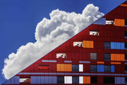 architecture, building, modern, art, structure, lines, linear, shapes, patterns, perspective, colors, blocks, sky, clouds