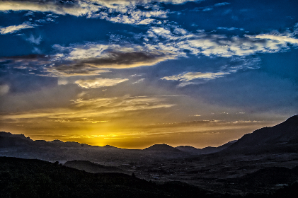 sunset,  no person,  sky,  mountain,  landscape,  nature,  evening,  outdoors,  fair weather,  light,  cloud