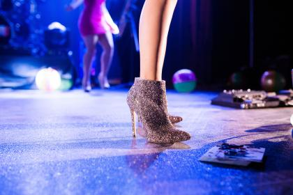 women, shoe, footwear, dance, nightclubs, stage, lights