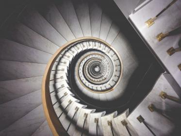 free photo of spiral  staircase