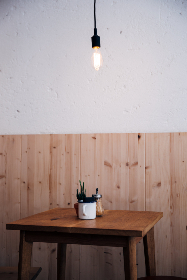 cafe,  table,  lighting,  simple,  clean,  minimal,  restaurant,  cup,  food,  drinks,  indoors,  wooden,  empty,  coffee,  beverage