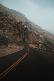 free photo of curve   curved road