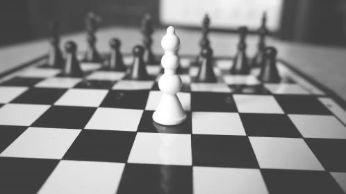 black and white, board, chess, game, sport, checkered, chessboard, intelligence, challenge, battle, strategy, victory, fun, game, move