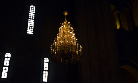 church, chandelier, old, lights, windows, architecture, indoors, candles, ornate, illumination