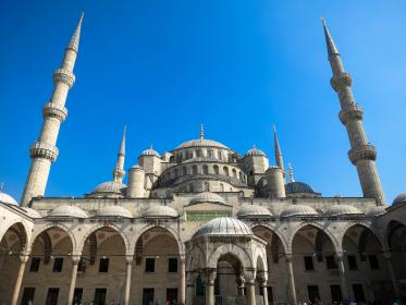 Sultan Ahmed Mosque, Istanbul, Turkey, architecture, culture, blue, sky