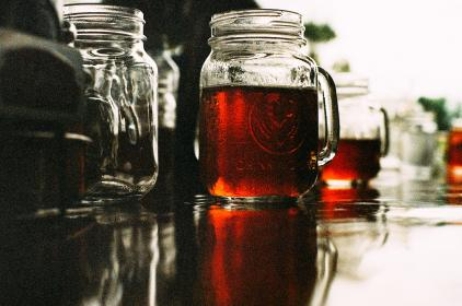 mason jar, beer, brew, booze, alcohol, bar, drink, beverage, glass