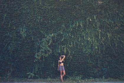 people, woman, girl, alone, sexy, green, grass, nature, outdoor