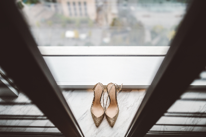 wedding ,  shoes, heels, footwear, bokeh, glitter, fancy