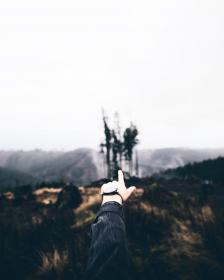 finger, pointing, hands, watch, nature, landscape, outdoors, sky