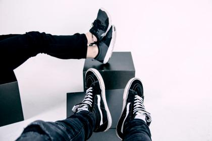 shoes, vans, nike, sneakers, rubber, sole, tie, people, feet
