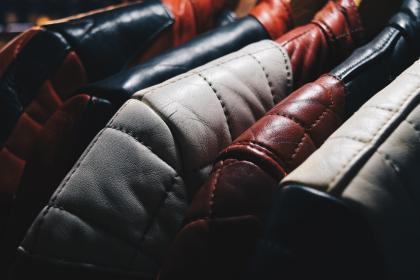 leather, jacket, hang, stitch, bokeh, thing, clothes