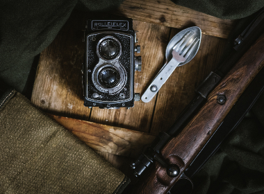 vintage,  camera,  wood,  spork,  fork,  spoon,  rifle,  gun,  weapon,  old,  classic,  table,  rustic