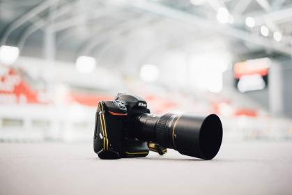 black, camera, lens, photography, accessory, table, blur, bokeh
