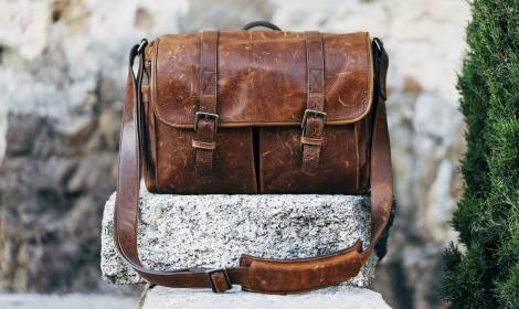 bag, leather, pocket, old, gravel