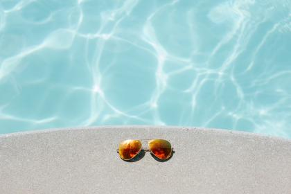 water, pool, blue, current, shades, sunglasses, sunny, summer
