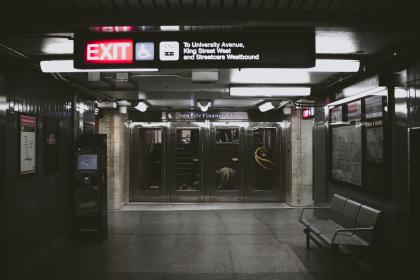 subway, station, places, exit, sign, travel