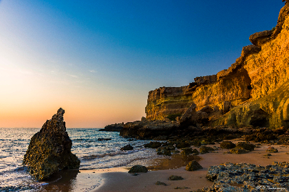 seascape, blue sky, rock, sea, ocean, landscape, travel, vacation, sunrise, sky, cliff