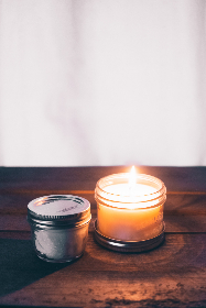 free photo of burning    candle