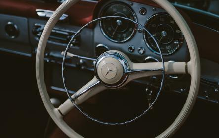 car, travel, transportation, vehicle, steering wheel, benz, control, driver, speedometer