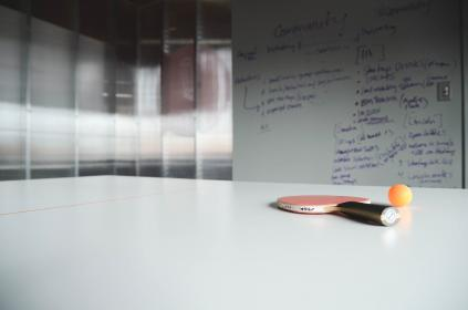 ping pong, racket, ball, table, office, whiteboard, business, startup, notes, meeting