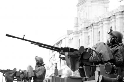 black and white, military, army, gun, war, vehicles, weapons