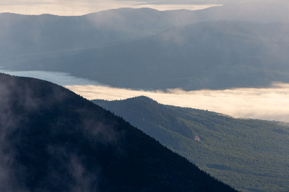 fog,   mountain,   valley,   clouds,   nature,   outdoors,   weather,   climate,   environment,   landscape,   haze,   scenic,  landscape,  canyon