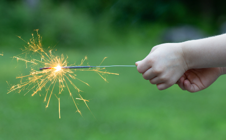 sparklers,  fireworks,  holiday,  celebration,  party,  outdoors,  hands,  holding,  sparks,  bokeh,  fun,  summer