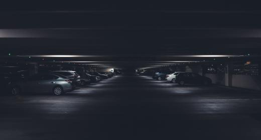 dark, ground, basement, car, vehicle, parking