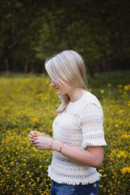 people, girl, woman, alone, garden, farm, field, outdoor, yellow, flowers, bloom, blossom, nature, trees