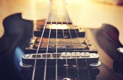 electric guitar, music, instrument, objects