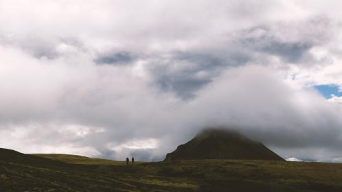 highland, mountain, hill, landscape, green, grass, travel, view, outdoor, nature, cloudy, sky, clouds