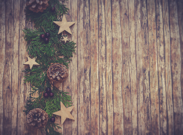 wood,   table,   christmas,   deor,   decoration,   brown,   christmas decor,   pine cones,   rough,   rustic,   stars,   wall,   wood,   planks,   wooden