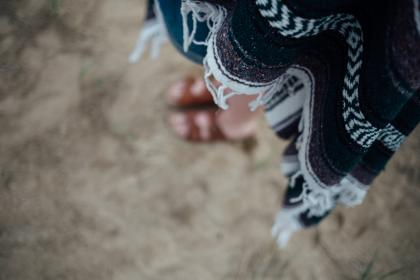 cloth, sand, feet, slippers, blur