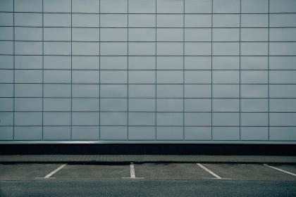 wall, lines, road, parking, gray