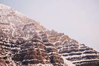 nature, landscape, mountain, rock, formation, snow, winter, cold, weather, travel, adventure
