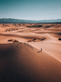 aerial,  desert,  hike,  travel,  explore,  wanderlust,  sand,  desolate,  dunes,  hot,  climate,  environment,  nature,  outdoors,  landscape,  trek,  adventure