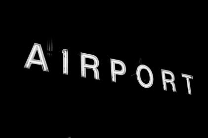 airport, sign, led