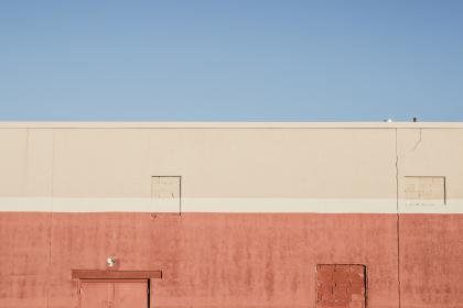 building, wall, colors, blue, red, beige
