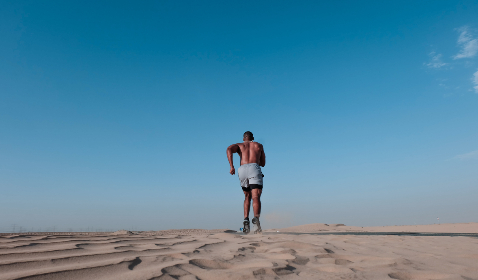 black,  man,  running,  desert,  fitness,  health,  speed,  blue sky,  hurry,  fast