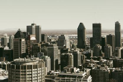 montreal, city, downtown, buildings, towers, skyline, rooftops, view, architecture