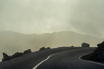 misty,  mountain,  road,  curvy,  fog,  clouds,  sky,  driving,  cliffs,  fall,  nature,  landscape,  travel,  route,  hills