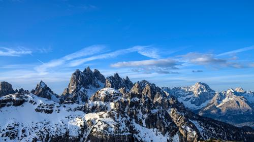 mountain, highland, cloud, sky, summit, ridge, landscape, nature, valley, hill, snow, winter, view, travel