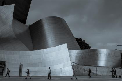 architecture, building, infrastructure, design, disney concert hall, landmark, stadium, people