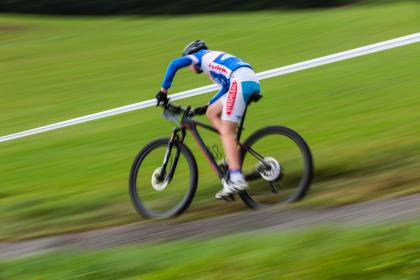 green, blur, mountain, bike, bicycle, ride, race, sport, cyclist, people, man, speed