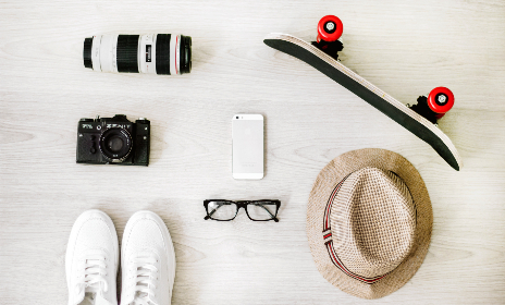 skateboard,  trainers,  hat,  glasses,  lens,  photography,  camera,  mobile,  phone,  device,  technology,  summer,  sport,  white