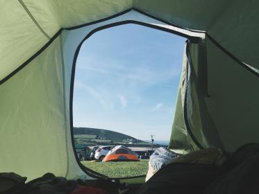 free photo of green  tent